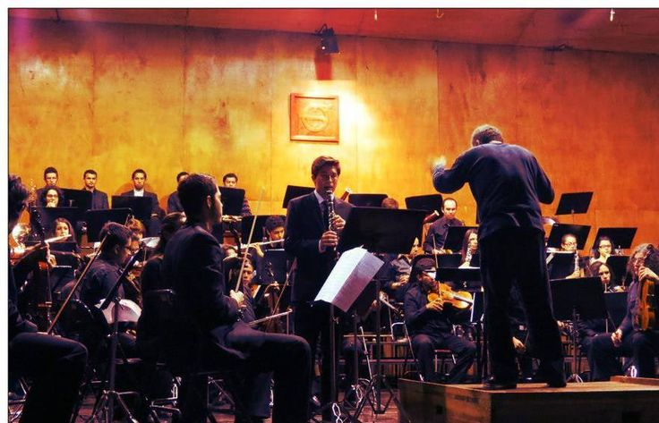 In concert as soloist with the National Youth Orchestra of Colombia