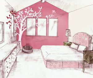 Kids Bedroom Drawing 35 best little girls bedroom ideas images on pinterest | home