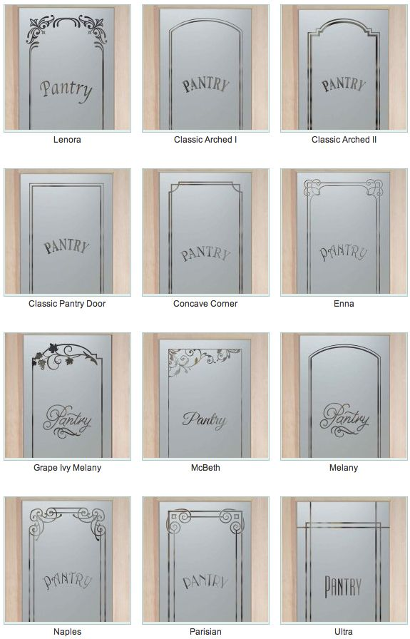 I Love Frosted Glass Pantry Doors! Bring Light Into The Pantry Without  Spotlighting The Contents Part 35