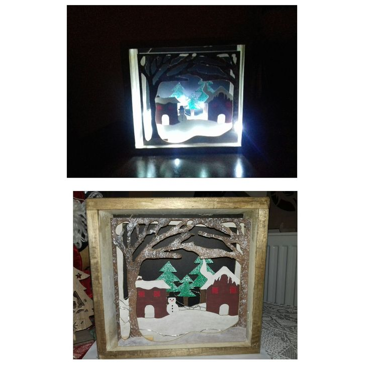 3D shadow box with led light