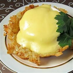 Quick and Easy Hollandaise Sauce in the Microwave Recipe - Allrecipes.com   #AllstarsOreIda