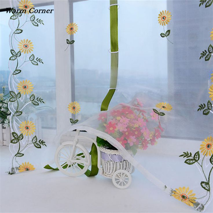 Warm Corner LM  Chrysanthemum Tulle Door Window Curtain Drape Panel Sheer Scarf Valance Free Shipping Sept 2