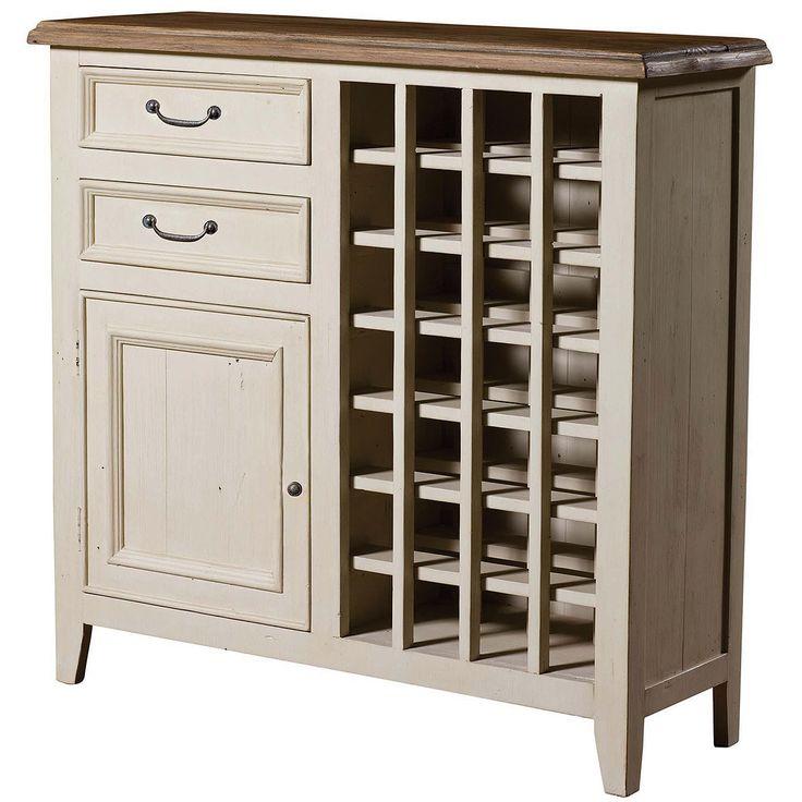 Cottage Wine Cabinet-White #beachdecor  (http://www.zinhome.com/cottage-wine-cabinet-white/)