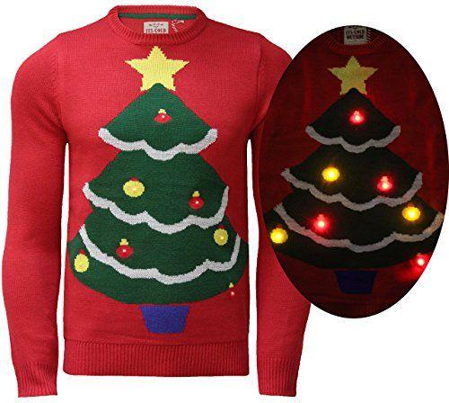 Mens Ladies Christmas Jumper Xmas Novelty Knitwear LED Lights Sweater Threadbare, IMT158- Red, Small Threadbare http://www.amazon.co.uk/dp/B00OKRP5CM/ref=cm_sw_r_pi_dp_xyQ-vb1A5HPEC