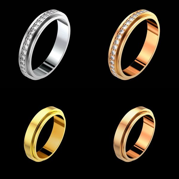 """One of the best looking wedding bands!!The Piaget Wedding Band Collection focuses on simplicity and beauty in a spectacular and one of a kind way, with rotating """"Posession""""rings."""