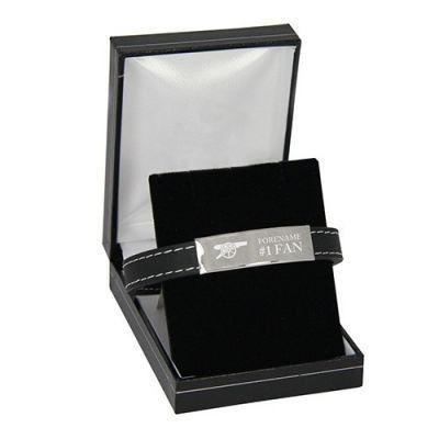Personalised Arsenal Emblem Steel & Rubber Bracelet #Arsenal #Football #FootballGifts £49.95