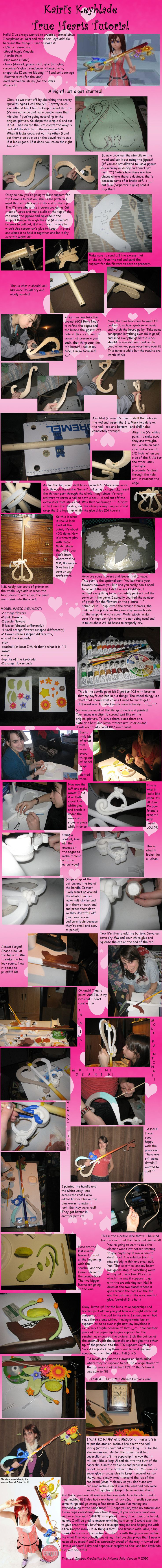I've always wanted to make a keyblade, I imagine this process would work for most if not all keyblades. <Kairi's Keyblade Tutorial by SerenityPhoenix.deviantart.com on @deviantART>