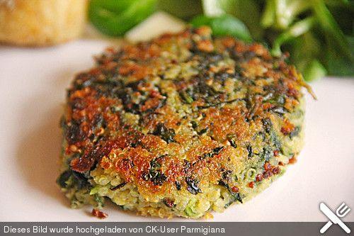 Quinoa Spinat Bratlinge