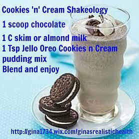 Cookies and cream Shakeology http://www.shakeology.com/en_US/?sn=CeceliaFleet