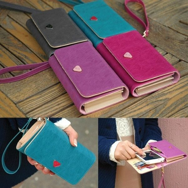 Envelope Card Wallet Leather Purse Case Cover For Samsung Galaxy S2 S3 Iphone 4S 5 Bag