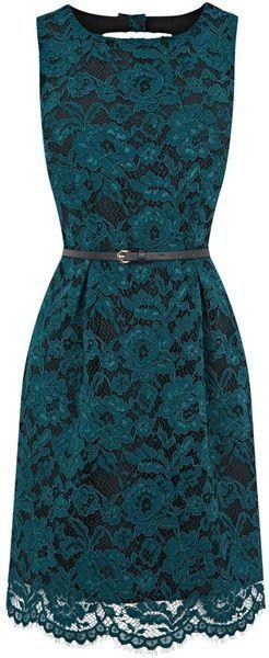 black lace and turquoise dress | black and green lace dress | Moda y estilo  (meron kaya neto sa landmark or sm??)