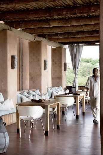 This beautiful resort in the Namibian bush looks like a wonderful place for a holiday and we noticed that the owners have selected Tom Vac chairs for the dining areas and guest rooms