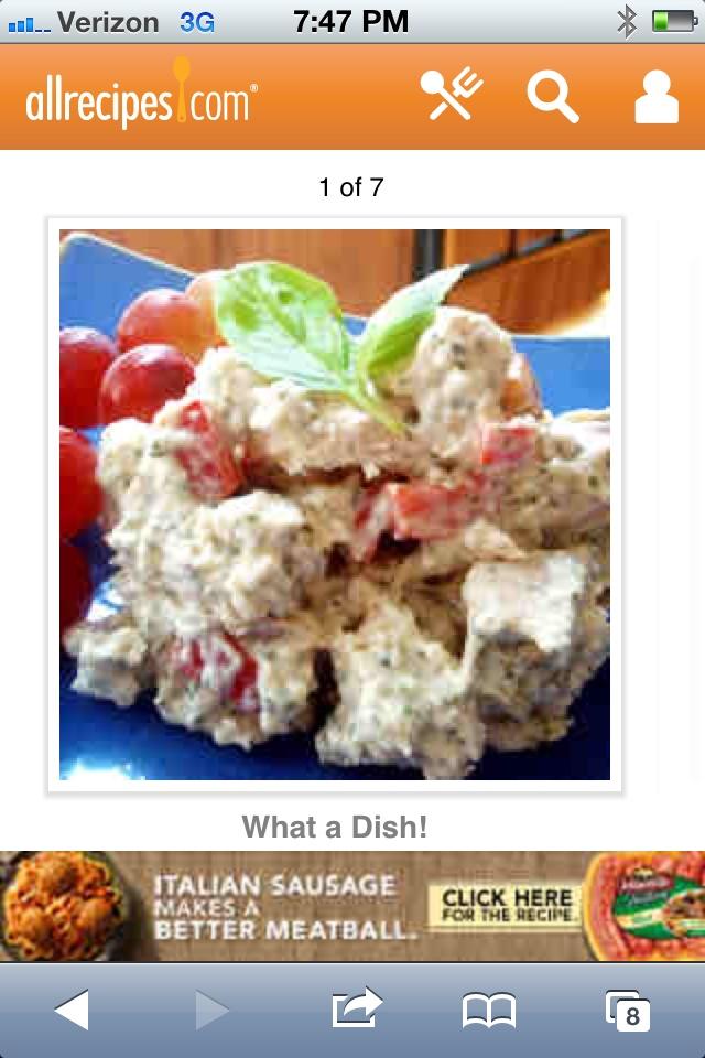 http://m.allrecipes.com/recipe/8592/parmesan-and-basil-chicken-salad