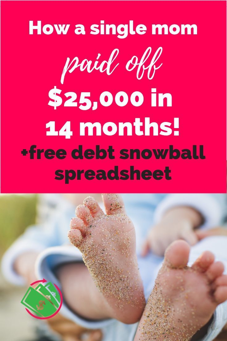 How A Single Mom Paid Off 25 000 In 14 Months Debt Snowball Spreadsheet Debt Snowball Debt Snowball Worksheet