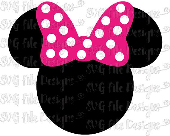Minnie Mouse Head And Ears With Bow Disney Layered Cutting