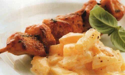 Brochettes z kurczaka a la Cajun