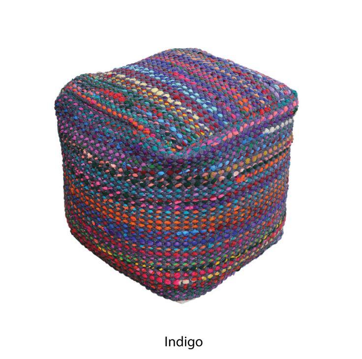 Image result for crochet pouf indigo