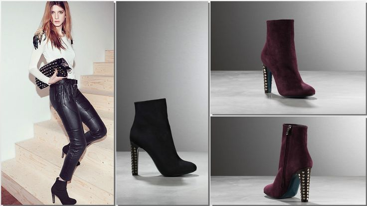 Be the first http://patriziape.pe/19W6XtL Catch the style - Suede Ankle Boot, with micro studs.