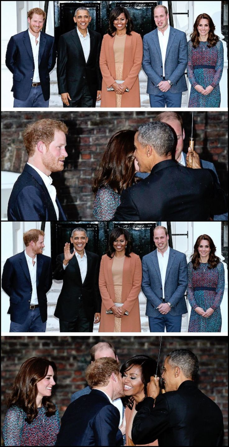 April 22, 2016 - Prince Harry, along with the Duke and Duchess of Cambridge, had dinner with #44 #President #POTUS Of The United States  Of America Commander In Chief #BarackObama #FirstLady #FLOTUS Of The United States  Of America #MichelleObama at Kensington Palace.