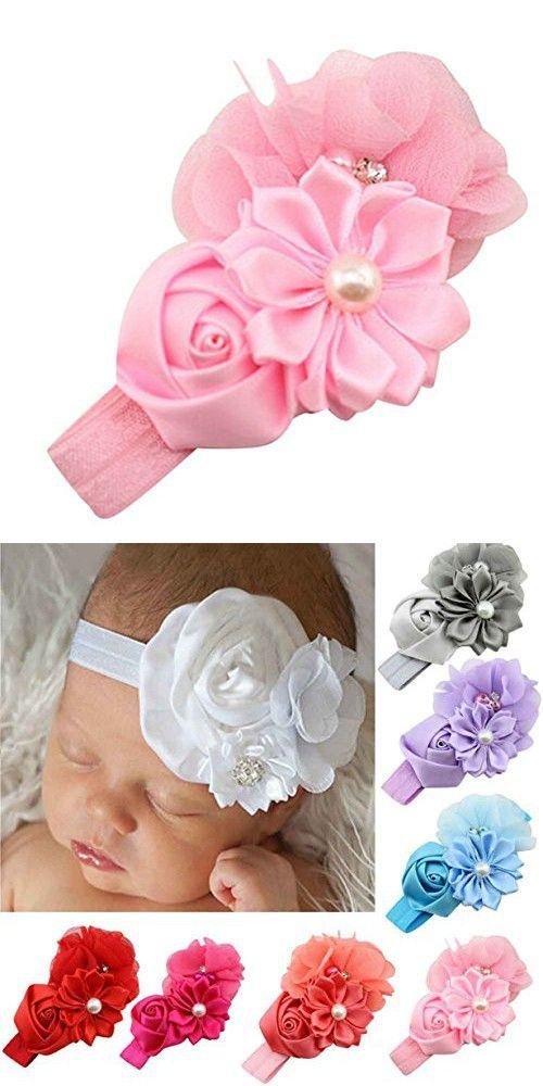93107d5dae75 BYEEE Lovely Kawaii Childen rs Headband Princess Baby Girls Flower Pearl  Hairband Cute Hair
