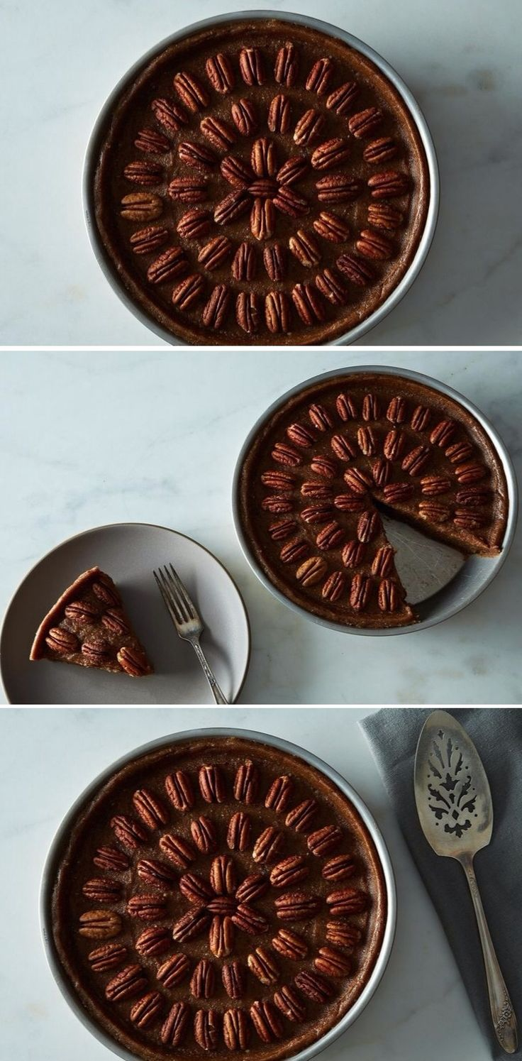 Raw, Vegan Pecan Pie - An easy, forgiving, and absolutely delicious vegan spin on pecan pie. Creamy medjool dates and coconut oil perfectly approximate the flavor and richness of a traditional filling.