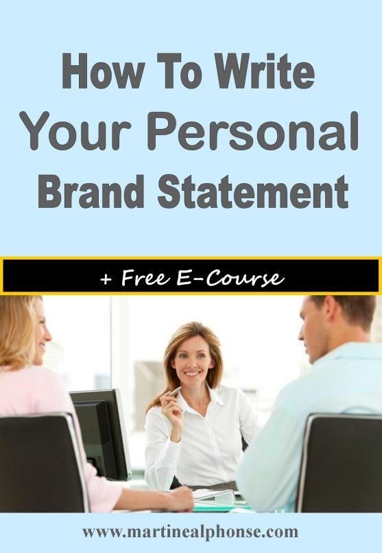 personal brand statement finance