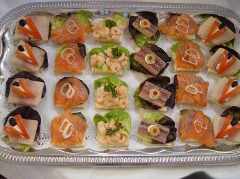 Foto Rezept Kalte Platten: Canapes mit Fisch