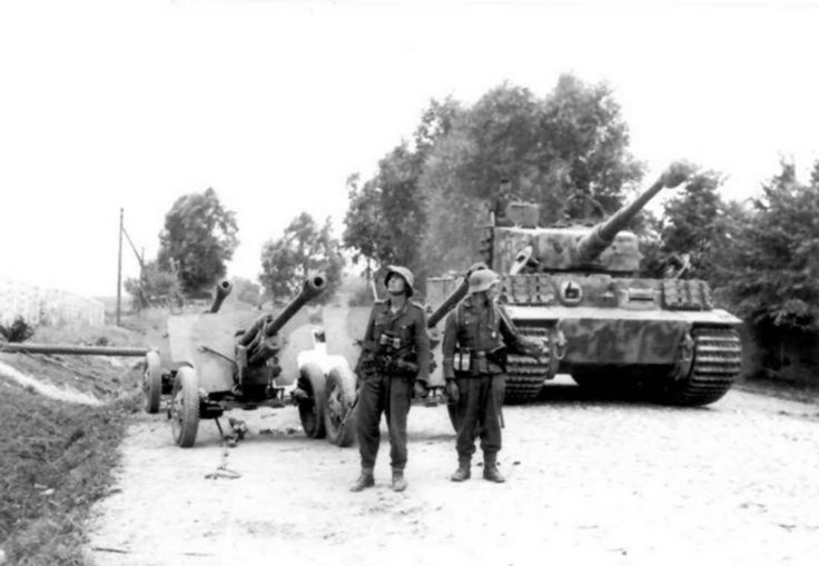 A German Tiger 1 tank of the 3rd Battalion Panzer Regiment GrossDeutschland.