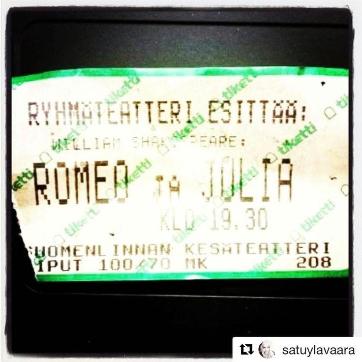 #Repost @satuylavaara with @repostapp  ・・・  #ryhmis50 #ryhmis #Ryhmäteatteri #RomeojaJulia #Suomenlinnassa #RomeojaJuliaSuomenlinnassa #suomenlinna #munteatteri #kesä #kesäteatteri ikimuistoinen tragedia, yöperhonen lepatti lähelle liekkiä / valoa #Shakespeare #ViljamiSäkkiperä #Tiketti #teatteri 🎦 #teatteripiletti #teatterilippu 🎭