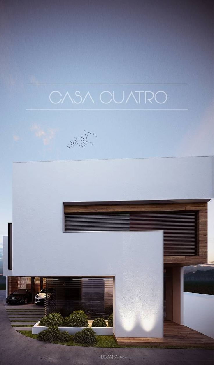 Best 25 modern house facades ideas on pinterest modern for Casa minimalista