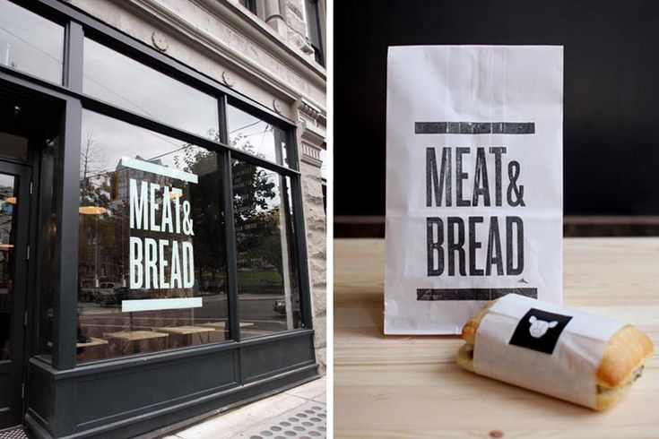 meat and bread - I adore this restaurant in Gastown, Vancouver. The branding is beautiful and the sandwiches will make you believe in god.