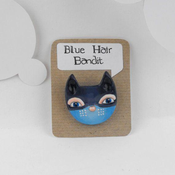 Cat  Blue Hair Bandit