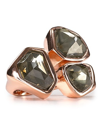 Alexis Bittar Delano Rose Gold Pyrite Doublet Stone Ring - Rings & Pins - Jewelry - Jewelry & Accessories - Bloomingdale's