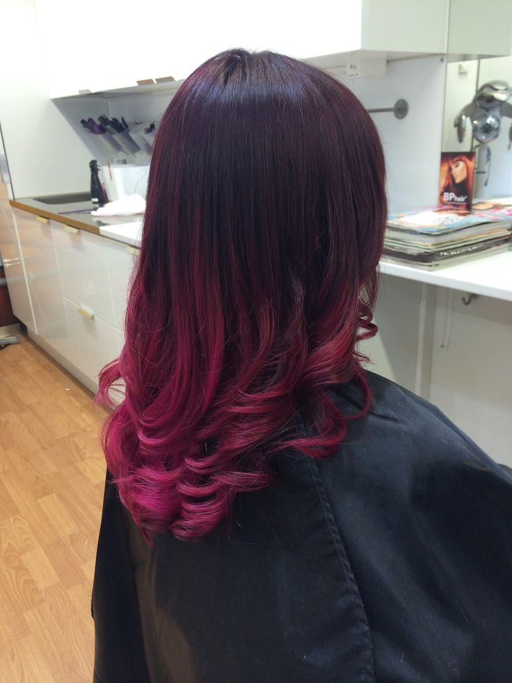 Ombre hair purple