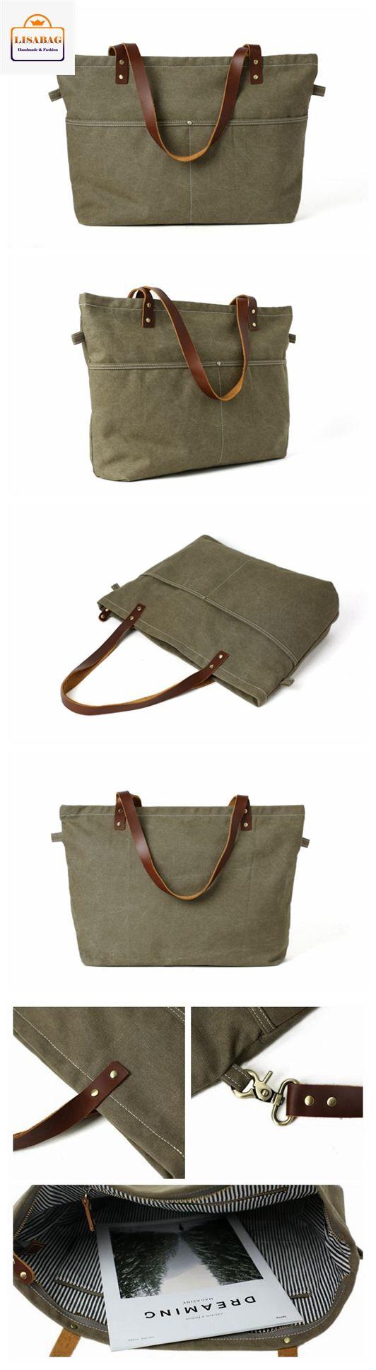 Handmade Army Green Canvas Tote Bag Messenger Bag Shopper Bag School Bag Handbag 14022