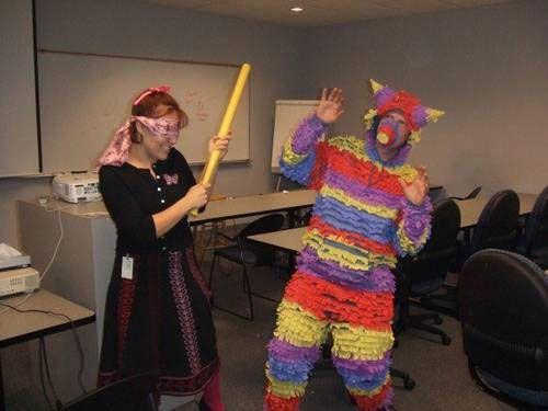funny couple costume pinata