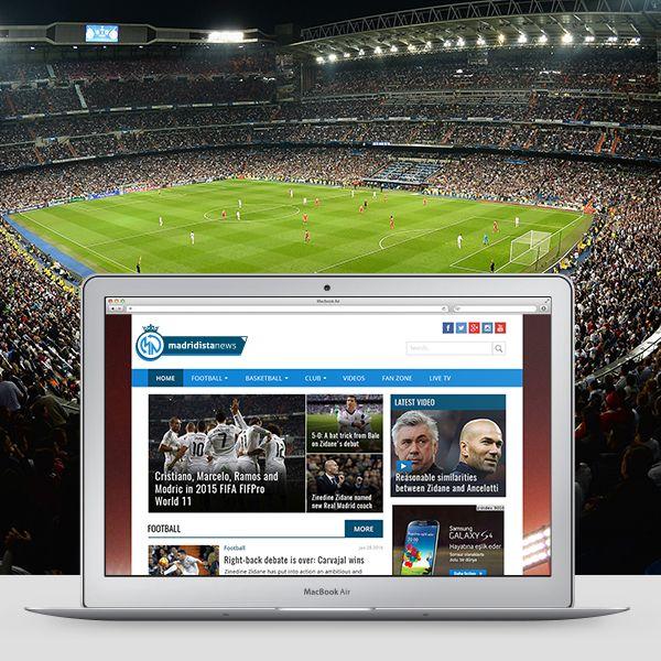 """Check out my @Behance project: """"Madridista News Online News Portal Website"""" https://www.behance.net/gallery/36364751/Madridista-News-Online-News-Portal-Website"""