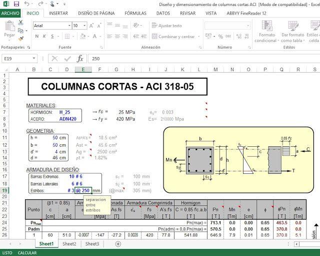 PLANTILLAS EXCEL PARA INGENIEROS CIVILES | Hojas de cálculo, Hoja ...