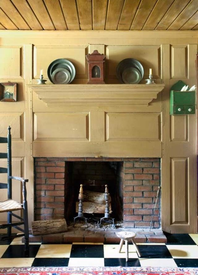 39 best Early American Fireplaces images on Pinterest | Prim decor ...