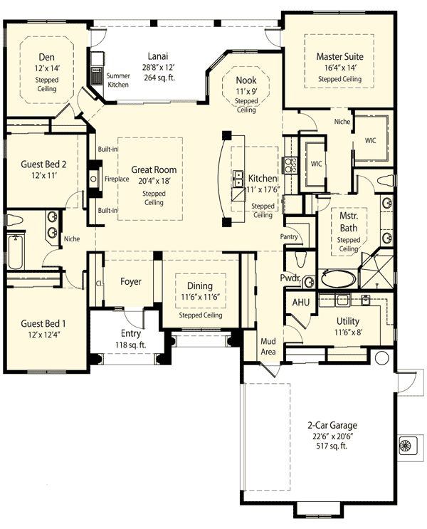 11 best images about house plans on pinterest Split master bedroom floor plans