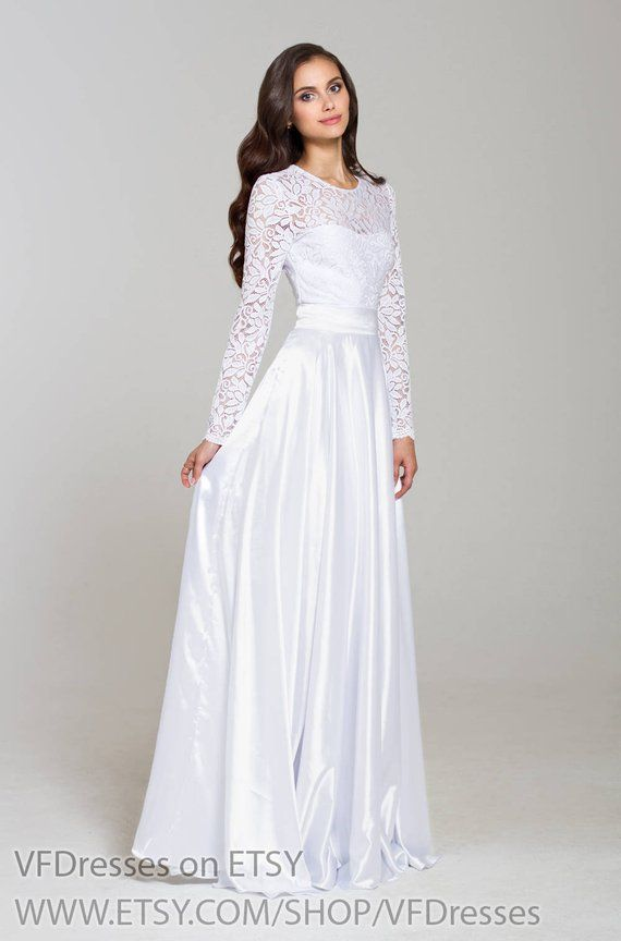 4951ac8843 White evening dress