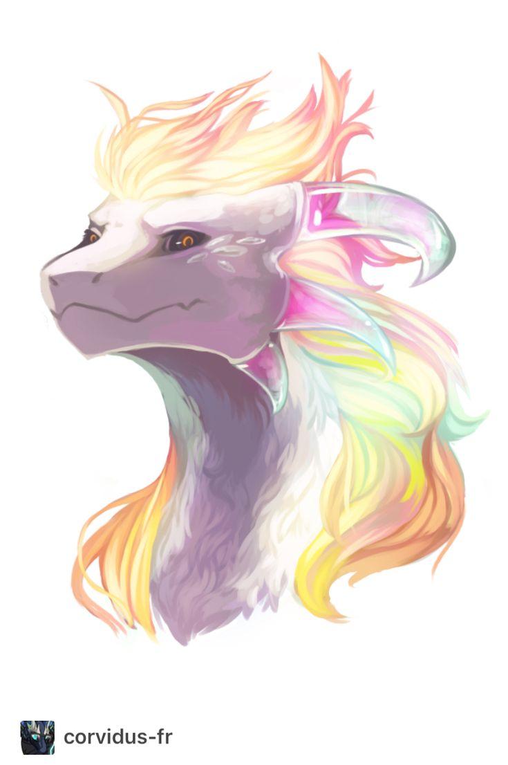Wow it's like a dragon cat wolf thingie ma jig with rainbows.... so UNICORN TOO!!