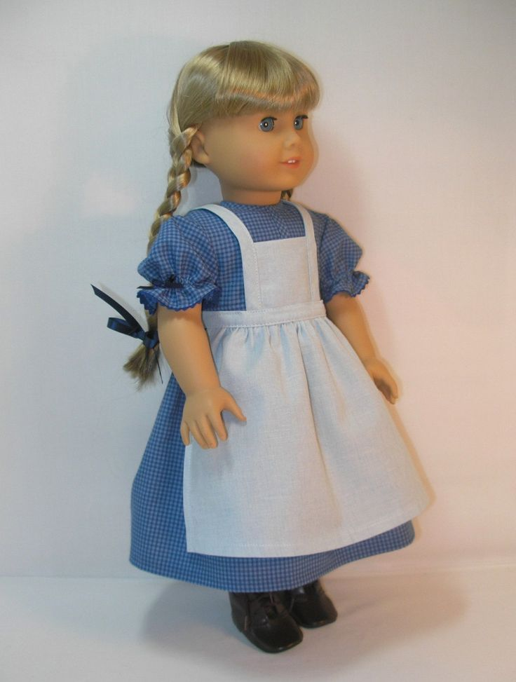 kerstin american girl doll clothes |  Dress and Apron for Kirsten, American Girl 18 Inch Doll