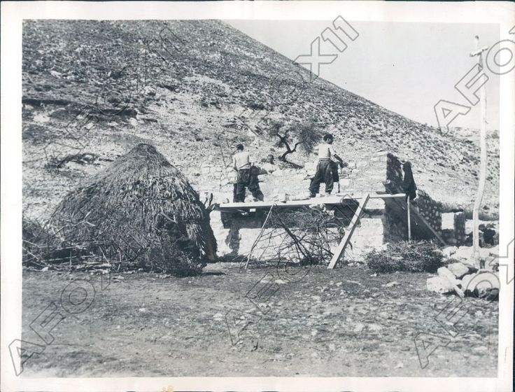 1946 Kalambaka Greece the Haystack is Actually a Grass Family House Press Photo