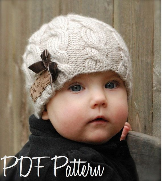 Knitting PATTERN-The Ella Hat (Toddler, Child, Adult sizes) via Etsy