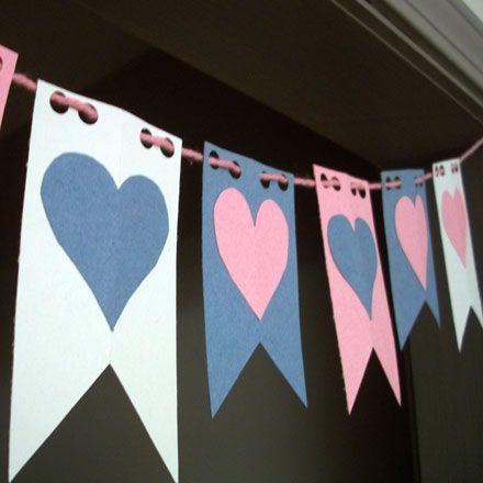 Una sencilla pero romántica guirnalda de San Valentín para decorar tu hogar en esta fecha tan especial...