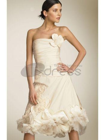 Abiti da Sposa Corti-Eleganti abiti da sposa corti in pizzo da cocktail stile