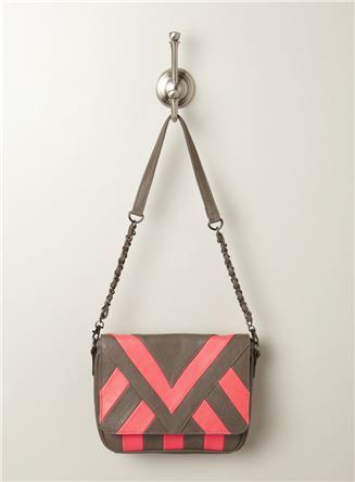 Nita Neon Striped Crossbody Bag $64.99 at @Laura Schultz's  #crossbodybag #satchel