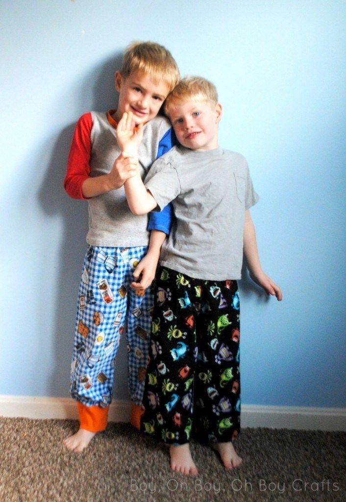 Beatnik Kids Free Boys Flannel Pajama Pants Pattern Uncategorized  tutorial sewing pajama pants kids clothing week Kids Clothes Week free pattern flannel boy pajamas
