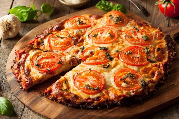 Würziger Pizzaboden aus Blumenkohl